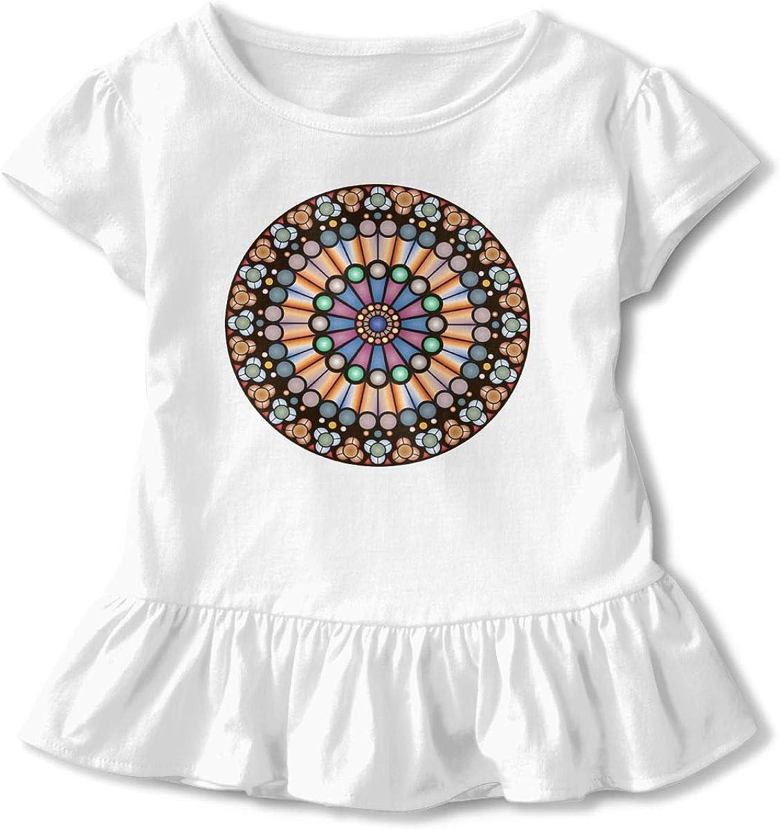 Rose Window Notre Dame De Paris Toddler Baby Girl Short Sleeve Cotton Shirts