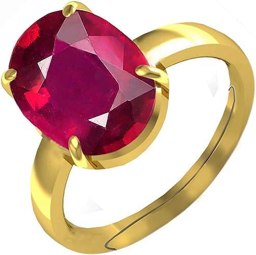 Unheated Natural Ruby Gemstone  Manik Gemstone Adjustable Ring  Natural Original Ruby Ring genuine ruby gemstone Ring genuine ruby Ring