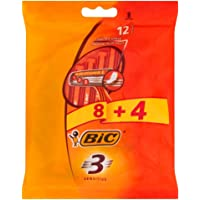 BiC Razor 3 Blade Sensitive Pouch for Men - Pack of 12