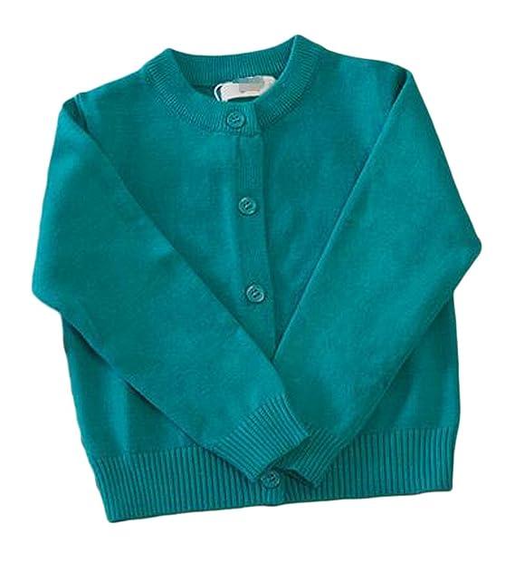 Amazon.com Unko Girls\u0027 Cute Long Sleeve Button Front Knit