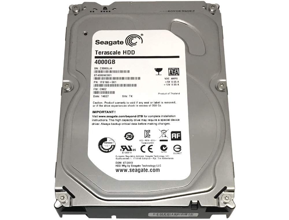 Seagate 4 TB Terascale HDD SATA 6Gb/s 64MB Cache 3.5-Inch Internal Bare Drive (ST4000NC001) by Seagate