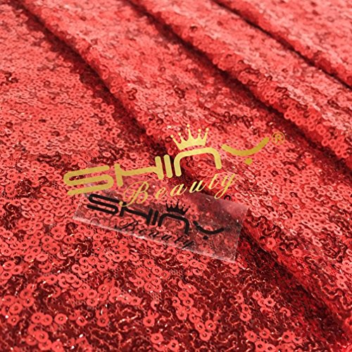 3 Feet 1 Yards Red Sequin Fabric, By the Yard, Sequin Fabric, Tablecloth, Linen, Sequin Tablecloth, Table Runner Photo Booth Backdrop,READY TO SHIP!! (Red Sequin Fabric)