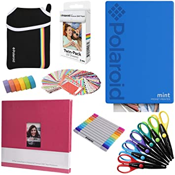 Polaroid Mint: Impresora instantánea (Azul) PAQ Arte + 20 Hojas de ...