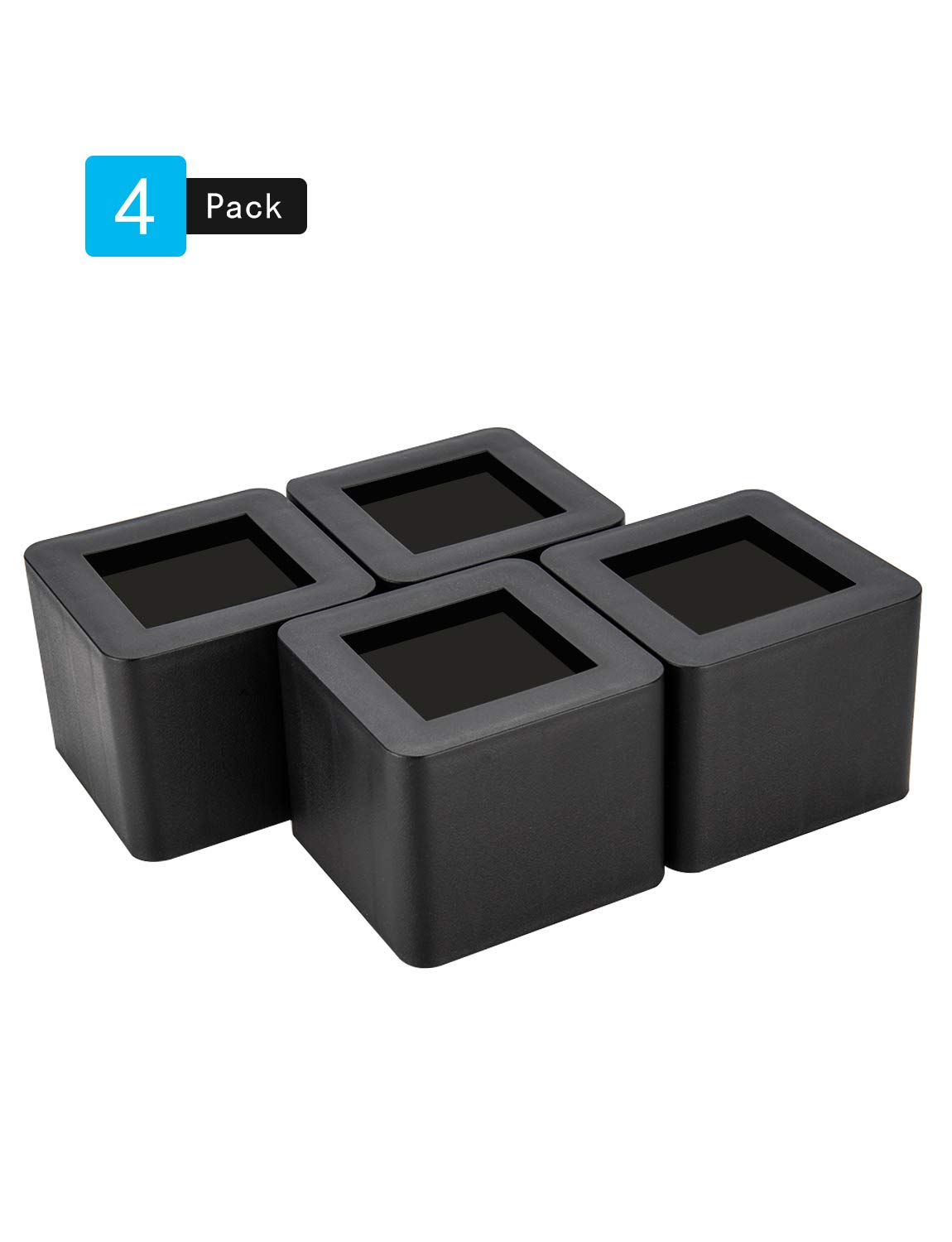 BTSD-home 3 Inch Bed Risers, Create Additional 3 Inch Height or Storage, Heavy Duty Furniture Risers