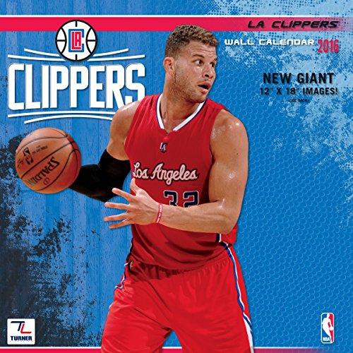 "Turner Los Angeles Clippers 2016 Team Wall Calendar, September 2015 - December 2016, 12 x 12"" (8011881)"