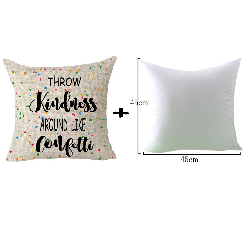 FELENIW Best Blessing To Family It's So Good To Be Home Throw Pillow Cover Cushion Case Cotton Linen Material Decorative Lumbar 12' x 20'' inches