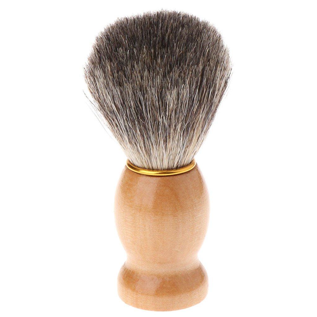 CUIGU Men Shaving Beard Brush Badger Hair Shave Wood Handle Razor Salon Barber Tool New