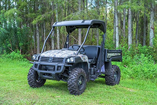 XYZCTEM UTV Cover with Heavy Duty Oxford Waterproof Material, 114.17'' x 59.06'' x 74.80'' (290 150 190cm) Included Storage Bag. Protects UTV From Rain, Hail, Dust, Snow, Sleet, and Sun (Camo) by XYZCTEM (Image #4)