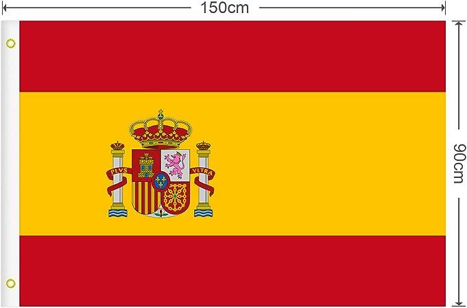RYMALL Bandera España Grande, 2pcs Bandera de España, Resistente a ...