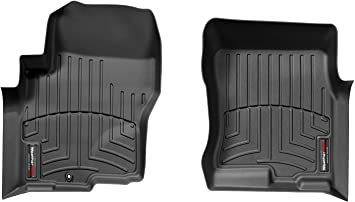 Black WeatherTech Custom Fit Front FloorLiner for Nissan Frontier//Suzuki Equator