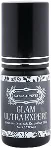 EXTRA STRONG Individual Eyelash Extension Glue 5 ml/Semi Permanent Extension Black Adhesive Eyelash Bonding Supplies/Drying Time 1-2 Sec/Retention 7-8 Weeks/Latex Free