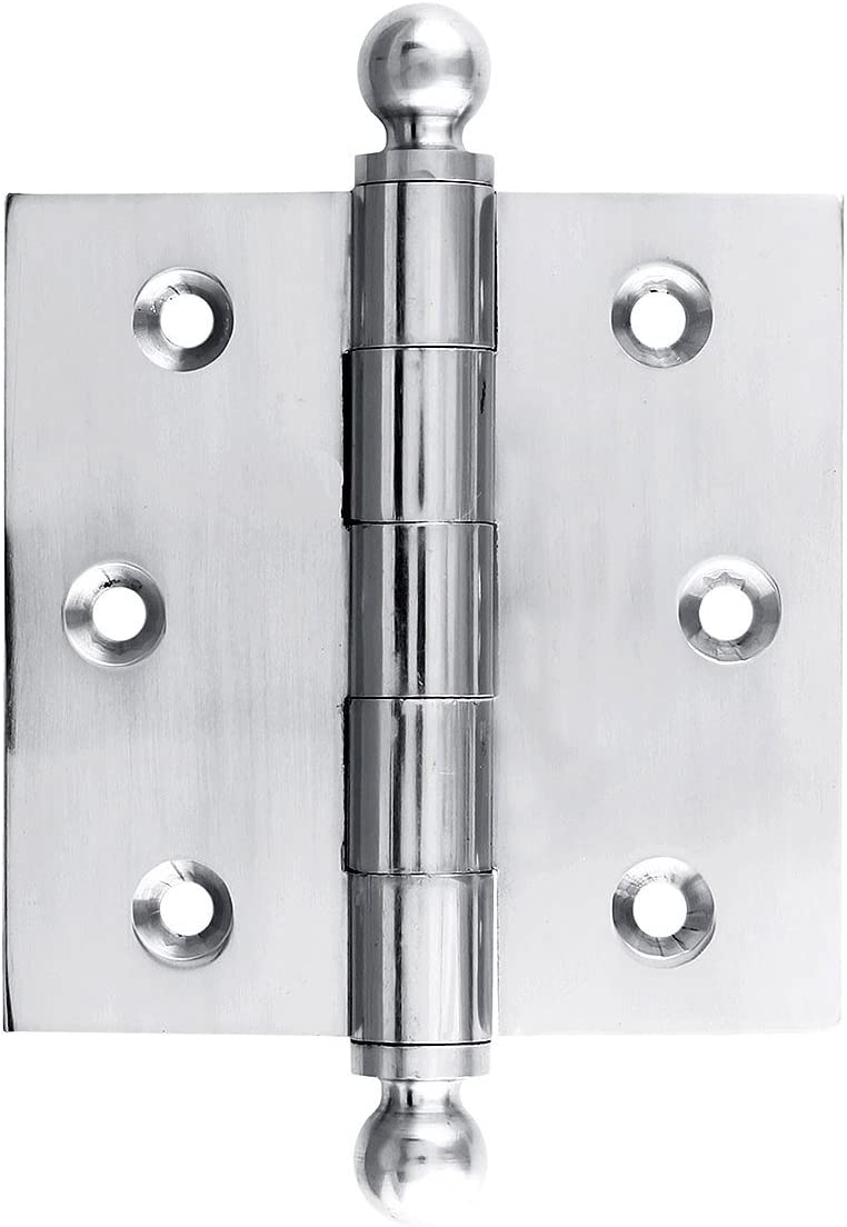 House of Antique Hardware W-04HH-120-OB Solid Brass Door Hinge with Ball Finials 3 in Oil-Rubbed Bronze