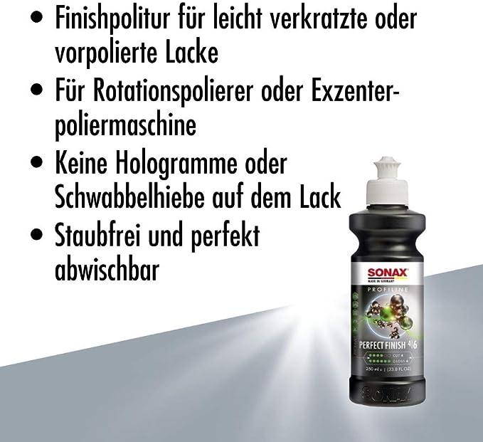 Sonax Profiline Perfectfinish 250 Ml Zum 1 Stufigen Polieren Von Lokal Ausgeschliffenen Lackschäden Wie Staubeinschlüssen Oder Läufern Art Nr 02241410 Auto