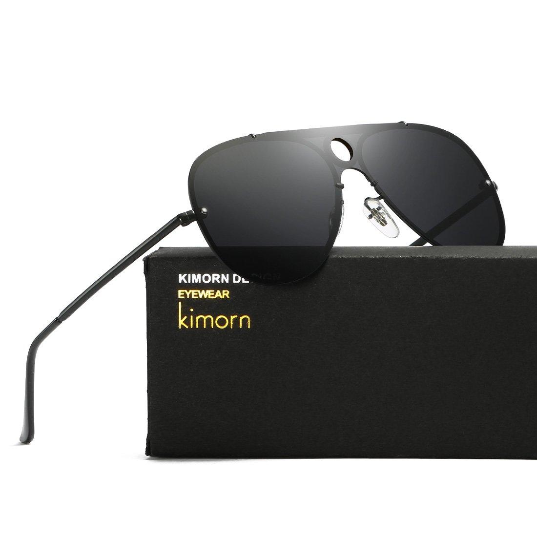0869be8aee kimorn Polarizado Gafas De Sol Hombre Estilo Integrado Lente Piloto Anteojos  K0584 (Negro): Amazon.es: Ropa y accesorios