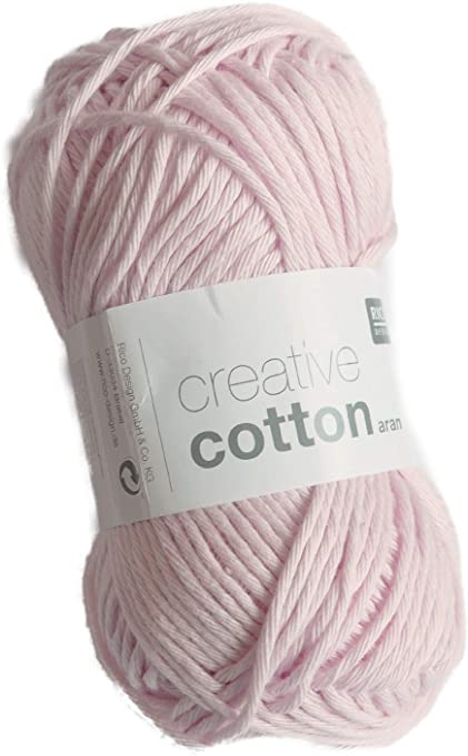 Rico Creative Cotton Aran FB. 08 Color Rosa Pastel, Hilo de ...
