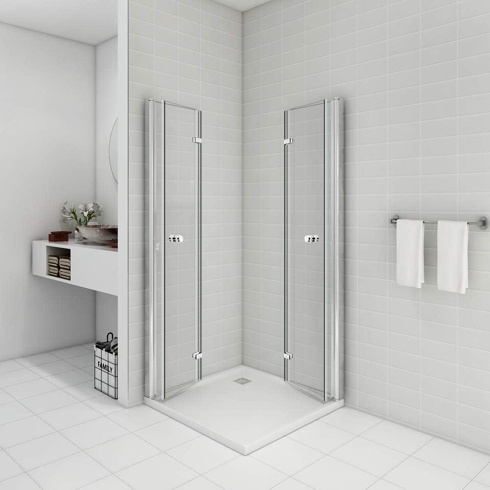 Cabina de ducha para esquina de entrada de 90 x 90 x 195 puerta ...