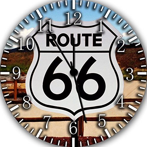Route 66 Borderless Frameless Wall Clock Nice For Decor Or Gifts
