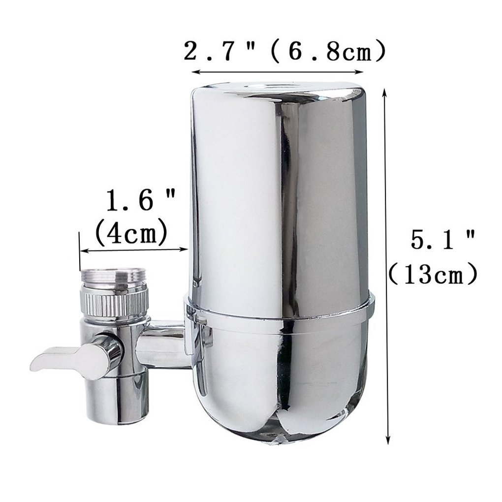 Kabter Faucet Mount Water Filter Tap Water Filtration Purifier,Chrome by Kabter (Image #3)