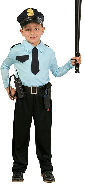 Guirca - Disfraz de policía con gorra, para niños de 7-9 años, color azul (82731): Amazon.es: Juguetes y juegos