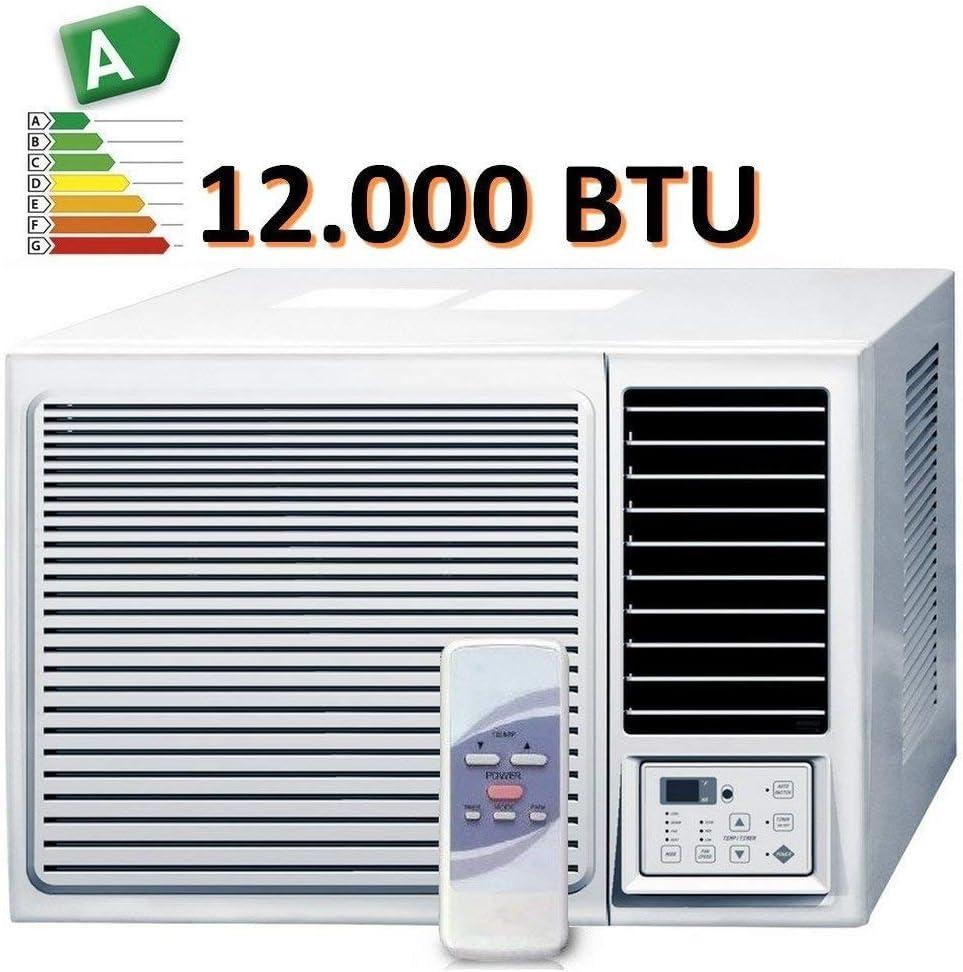Klimaanlage Fenster-Kompaktklimaanlage Mit Fernbedienung Wei/ß Tragbare Fernbedienung Und Zeitfunktion