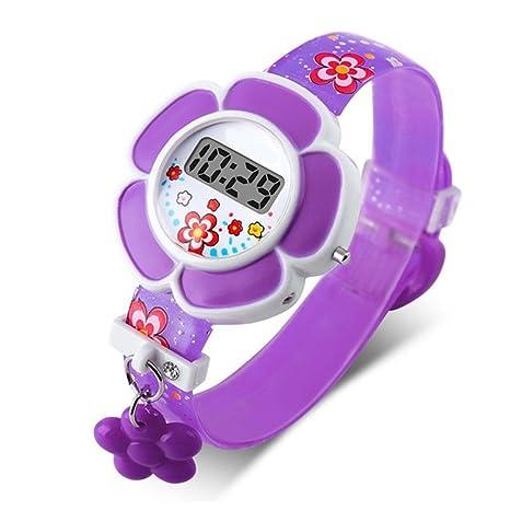 Christine Lovely Flower Kids Relojes para niños, Impermeables, Bonitos Relojes para niños, Reloj