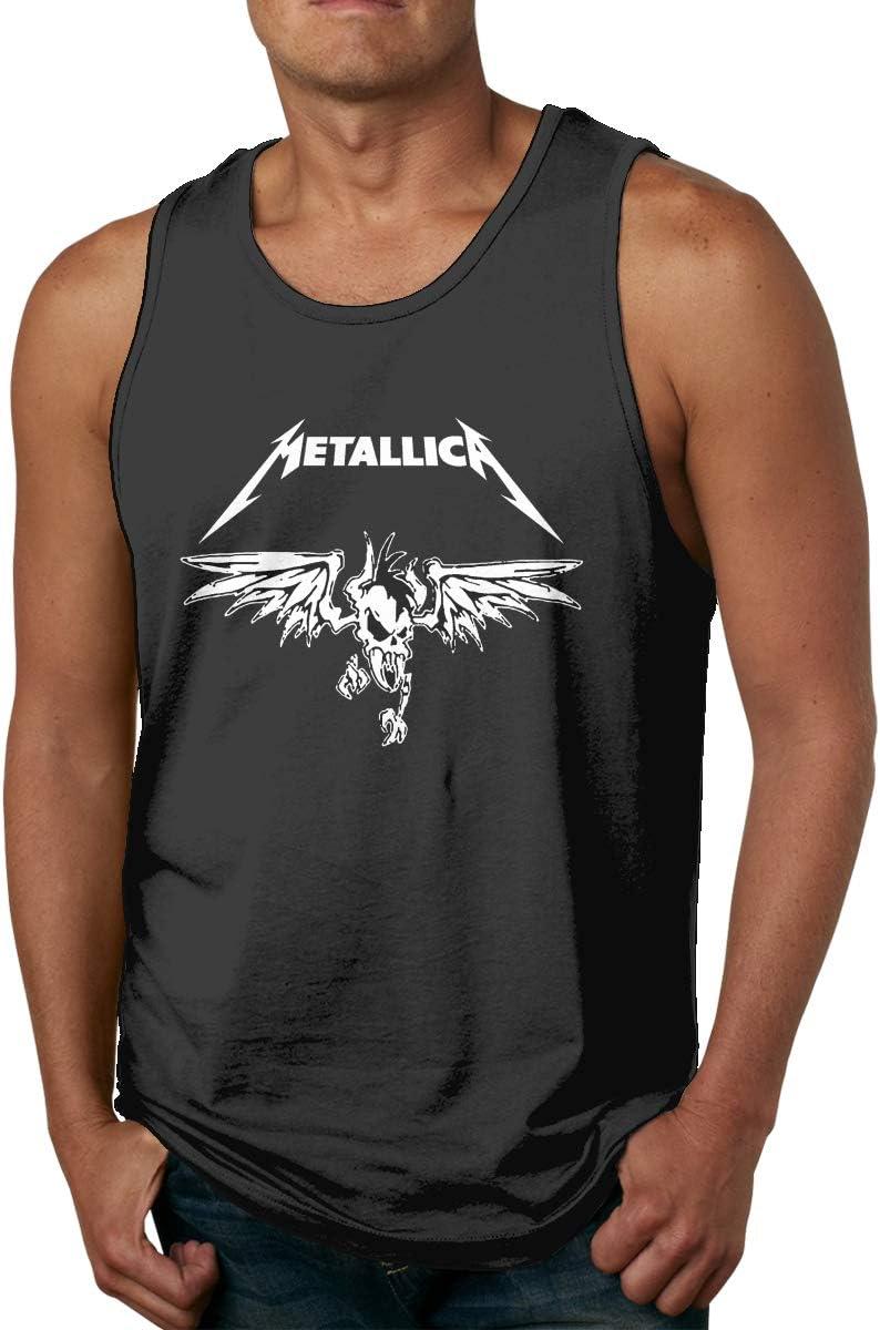 Sadfqw Metallica - Camiseta de Gimnasio para Hombre, sin Mangas, para Culturismo: Amazon.es: Deportes y aire libre