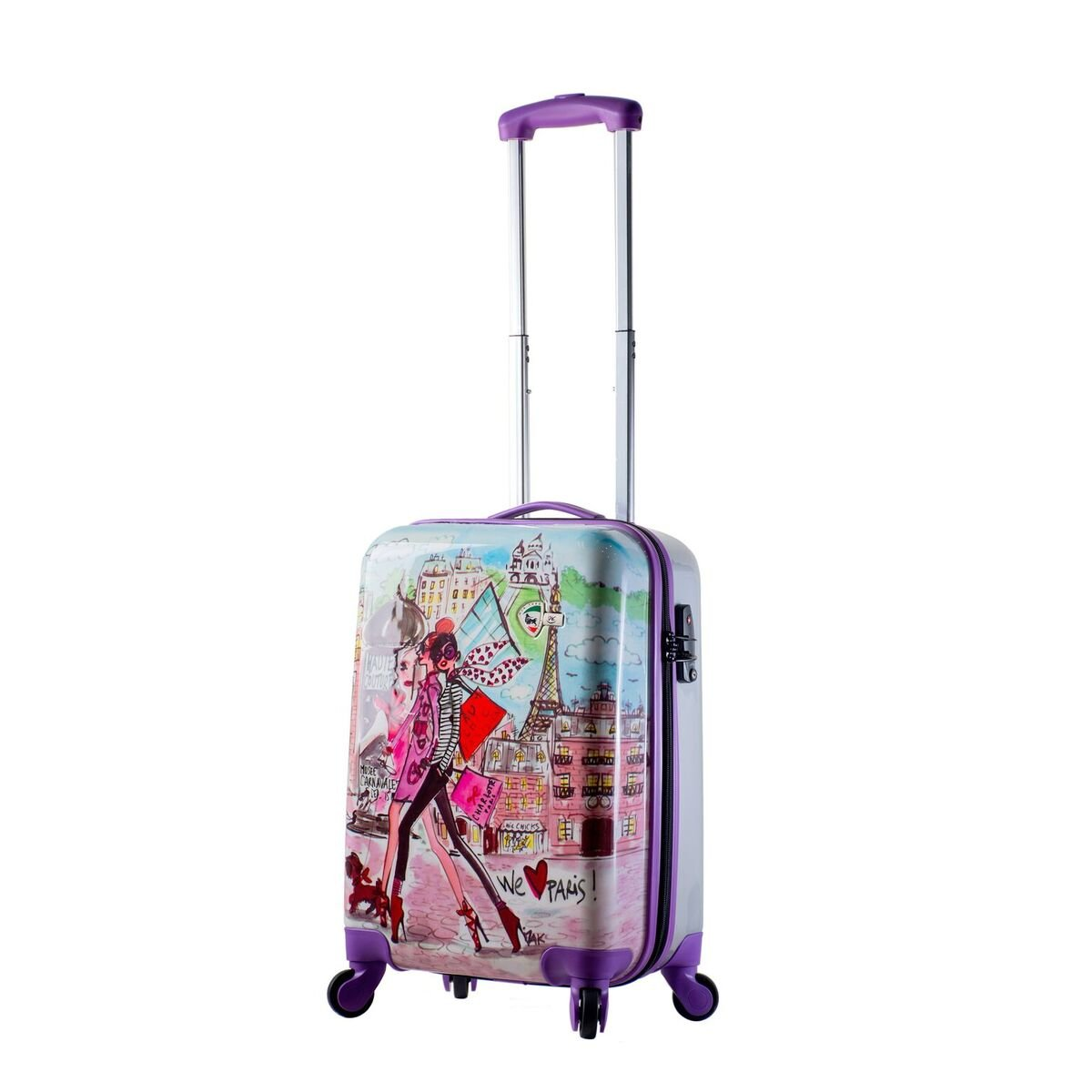 Mia Toro Izak-Paris Fashion Hard-side Spinner Luggage 3PC/Set with 10-Year Warranty--BEST GIFT for Christmas!!!!! by Mia Toro (Image #3)