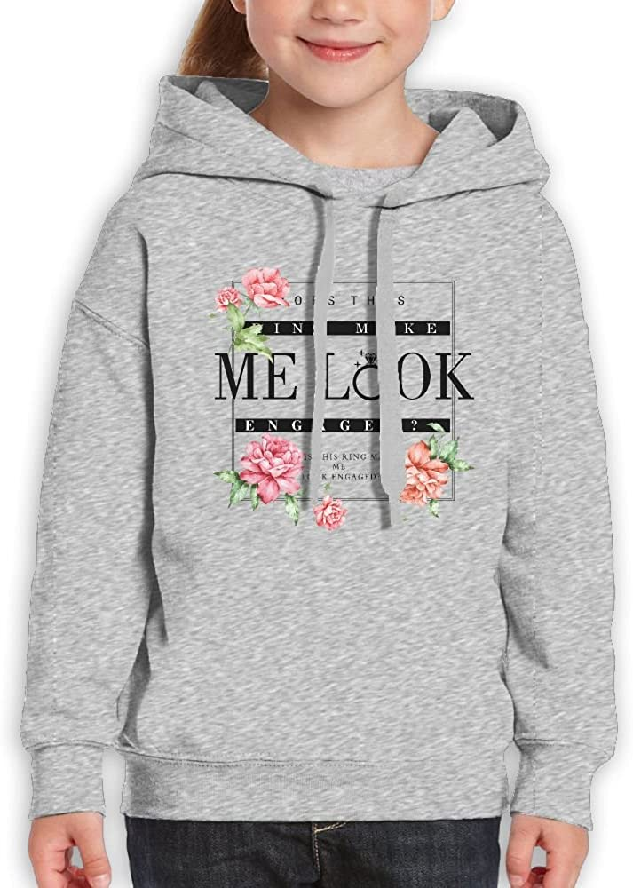DTMN7 Ring Make Me Look Engaged Cool Printed O-Neck Top For Kids Spring Autumn Winter