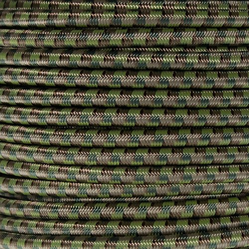 """Paracord Planet 1/4"""" Elastic Cord Crafting Stretch String with Various Colors – Choose from 10, 25, 50, and 100 Feet, Made in USA ()"""