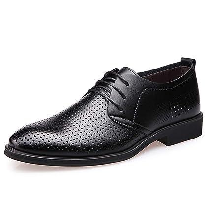 ANTAZ Zapatos de Vestir Casuales para Hombres de Negocios de Cuero ...