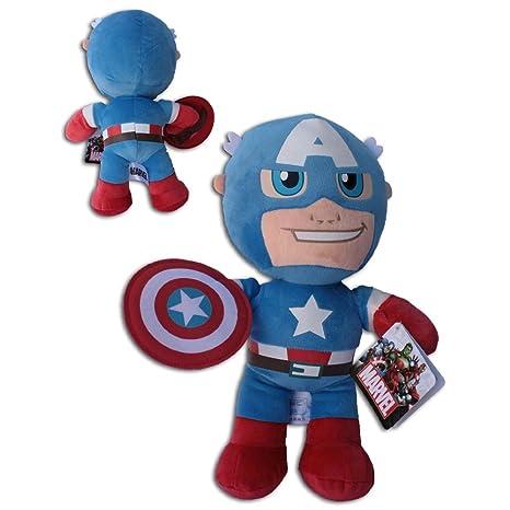 Peluche Capitán América Los Vengadores Marvel Muñeco cm. 30 ...