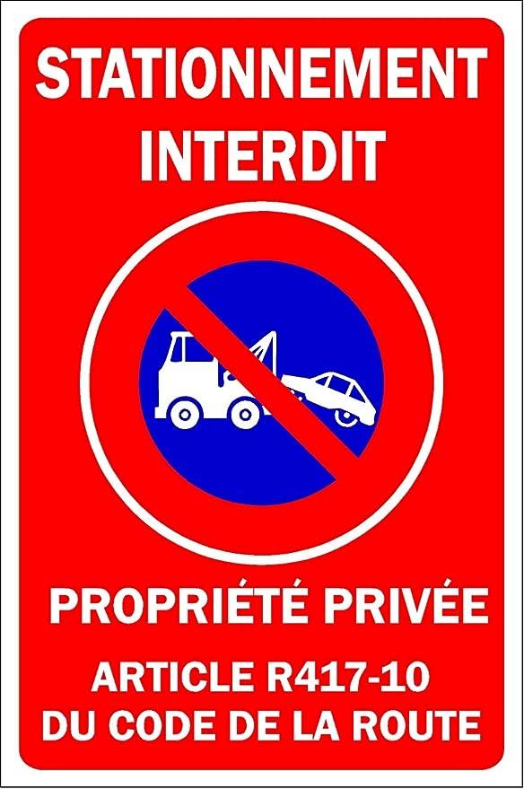 Placa de Aparcamiento prohibida de Propiedad privada - Placa ...