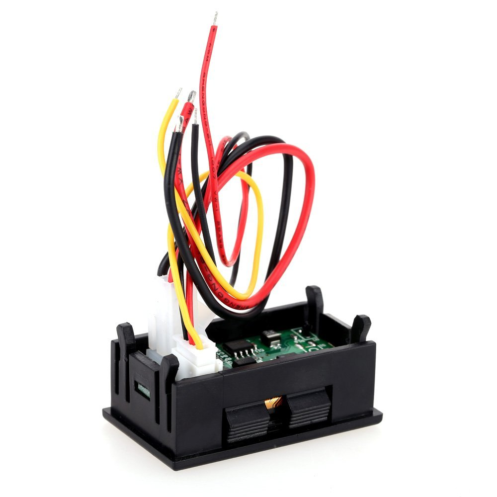 KKmoon Param/ètre /électrique Compteur Actuel Temps Puissance /énergie Capacit/é Temp/érature Testeur OLED Multifonctionnel 7-en-1 de Tension