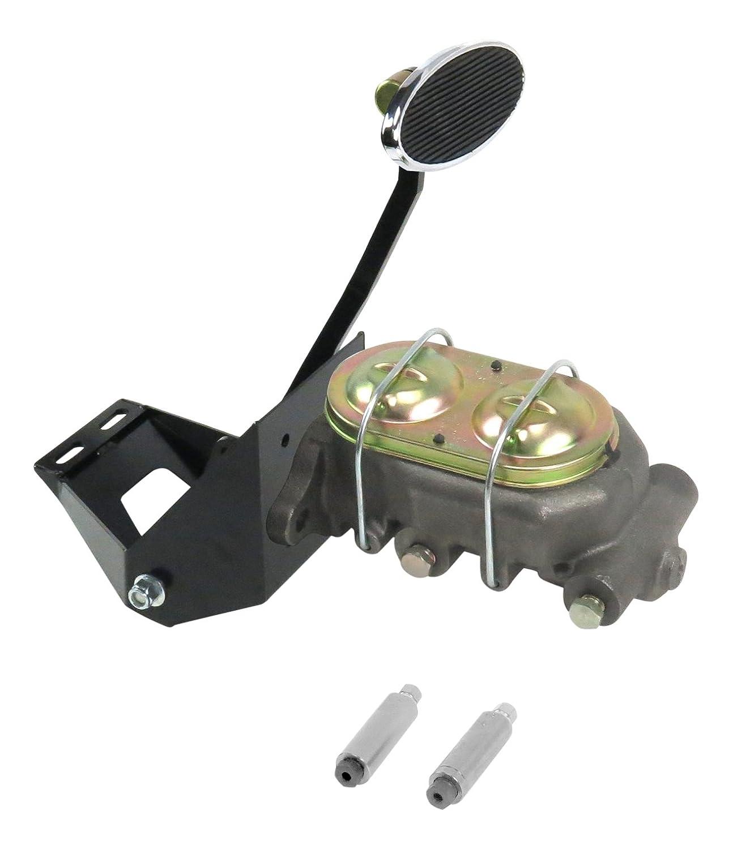 Helix 324584 55-59 Chevy Truck FW Manual Brake Pedal kit Drum~Lg Oval Chr Pad
