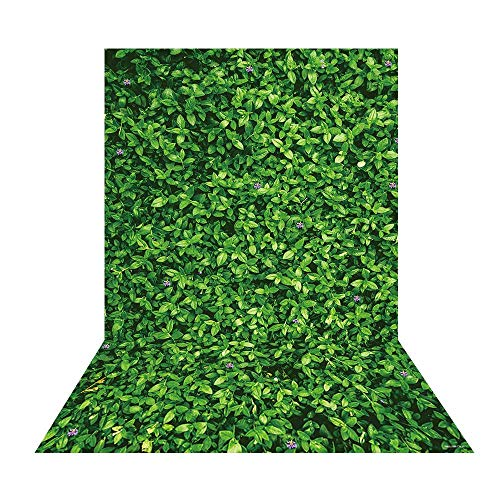 Allenjoy Green Leaves Grass Wall Backdrop Nature Spring Lawn Kids Birthday Table Wall Decoration Banner Bridal Baby Shower Wedding Safari Party 5x7ft Background for Pictures Photo Booth Props (Spring Table Nature)