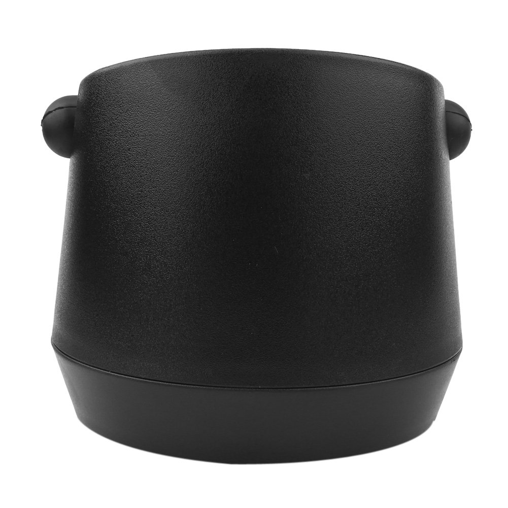 Detachable ABS Coffee Knock Box Coffee Grind Knock Box with Rubber Bar for Espresso Grind Waste Bin Home Knock Box Black