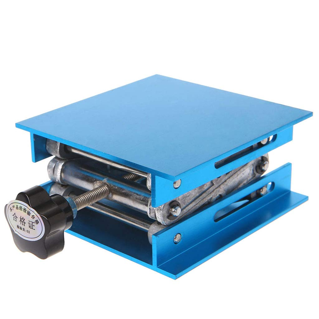 XIAO-WU 4''x4'' Aluminum Oxidation Lifting Platform Lift Table Woodworking Engraving Lab Lifting Stand Rack