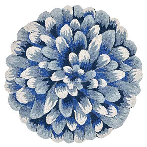 Liora Manne FTPD3182803 Frontporch 3' Round, Blue