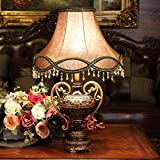 Edge To Table Lamp European Style Lamp Creative Luxury Living Room Decorative Table Lamp Modern Simple Bedroom Bed Table Lamp ( Color : Small 55cm )