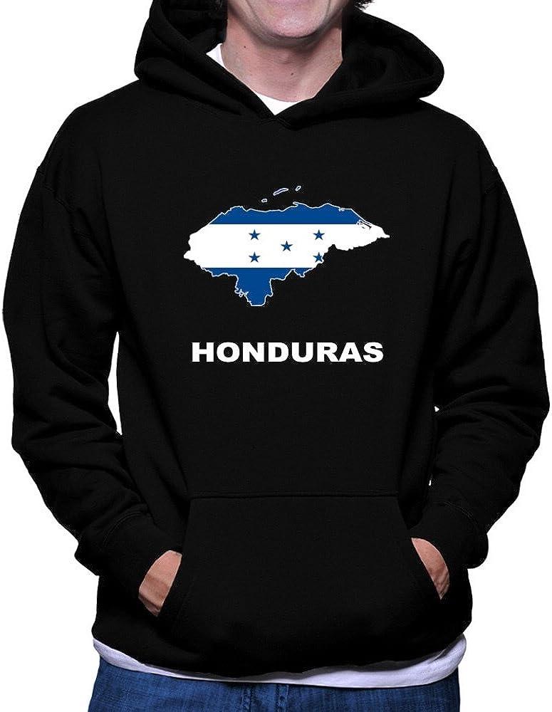 Teeburon Honduras Country Map Color Hoodie