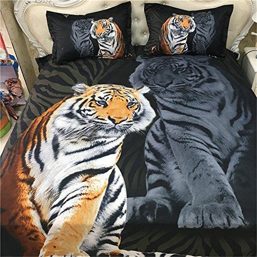 Esydream 3d Oil Painting Tiger Animal Boys Men S Duvet Cover Sets 3