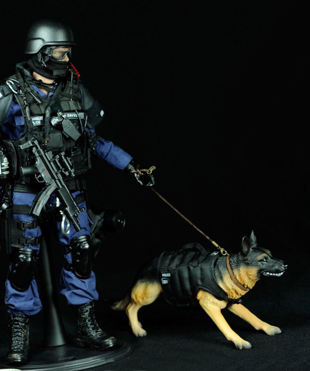 2 Stücke 12 Zoll Action-Figur 1:6 Polizeihund Spielzeug für Kinder