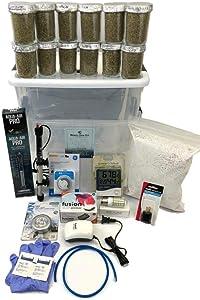 Virgenu 12 Jars Mushroom Growing Kit Ultimate Fast Automated Cultivation Equipment