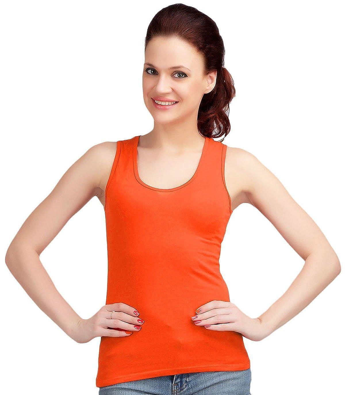 374600a0 Women Sando Style Camisole Vest Sleeveless Top T-Shirt Summer Tank at  Amazon Women's Clothing store:
