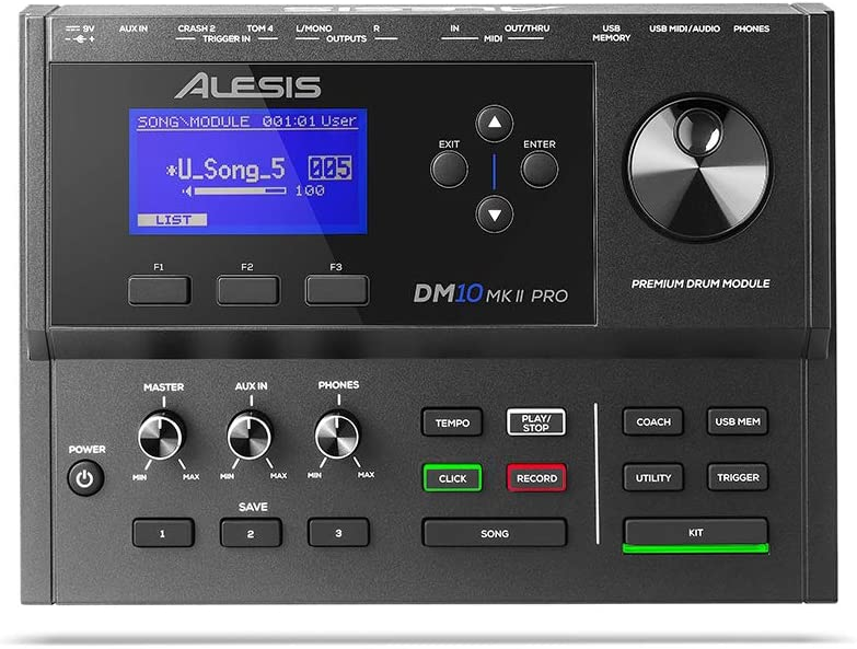 Alesis DM 10 MKII Pro Drum Set with Pedal Throne and Cables Sticks
