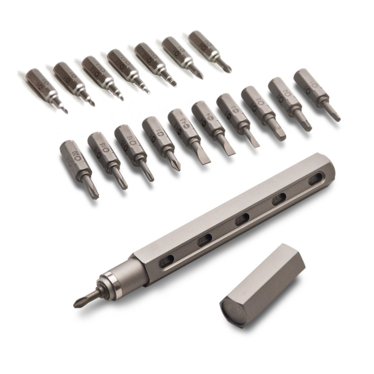 Premium Tool Pen by Mininch | EDC Multi-Tool Screwdriver | Interchangeable Phillips, Flathead, Hex, and Star Bolt Heads | Imperial and Metric Sizes (Deluxe Tool Pen, Gunmetal) by Mininch (Image #1)