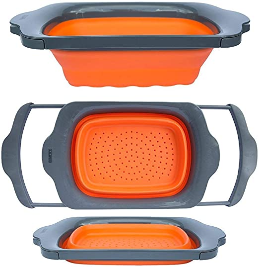 Collapsible Folding OVER THE SINK Colander Motorhome Camping EXTENDING TYPE