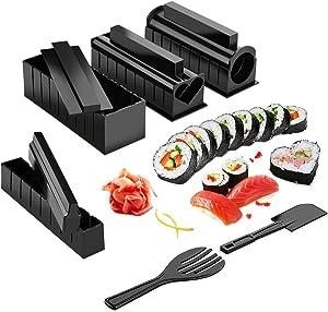 Sushi Making Kit,Sushi Roller 11 Pcs Diy Sushi Making Kit Roll Sushi Maker Rice Roll Mold Kitchen Sushi Tools Sushi Cooking Tools Kitchen Tools