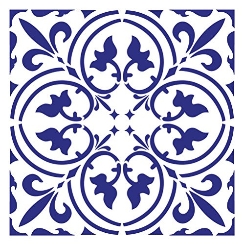 Designer Stencils Scroll Tile Wall Stencil 3798