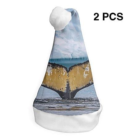 Papá Noel sombrero Antártico ballena cola Feliz Navidad ...